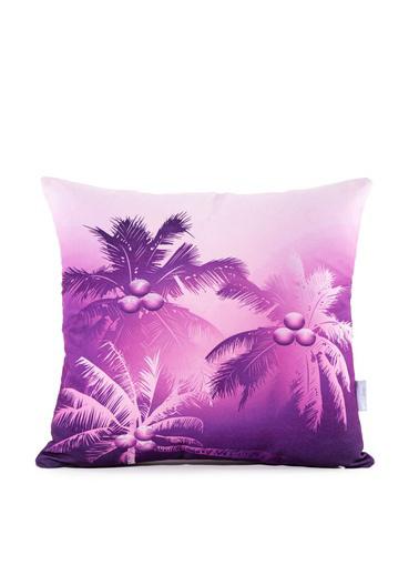 Firuze Home&Bath 2'li Kırlent Violet Shadows Renkli